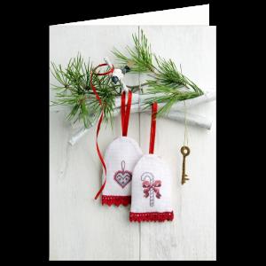 kerst verhuiskaart borduur handwerk creatief takje sleutel