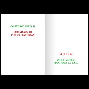 adreswijziging kerst voorbeeld idee opzet kraft