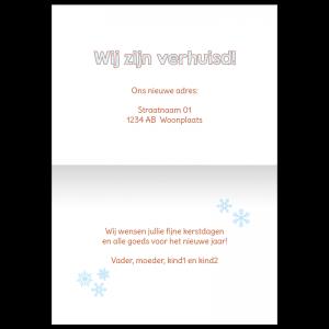 tekst verhuis kerst kaart samenwonen adreswijziging verhuisbericht