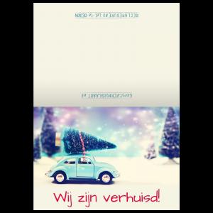verhuis kerst kaart kever mini kerstboom miniatuur Snow sneeuw Magic