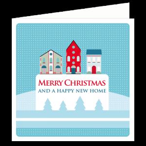 happy new home kerstwens verhuisbericht verhuizen adres zakelijk