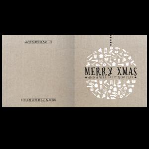 kerst verhuis klussen kaart karton kraft iconen symbolen