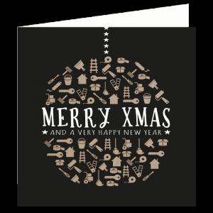 verhuis kerst kaart klussen verhuizen werk klaar bericht adres