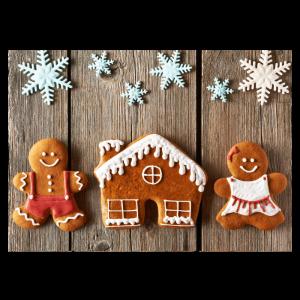 Kerst verhuiskaart samenwonen gingerbread kersthuis