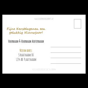 Tekst verhuisbericht kerstkaart Scandinavisch zelf opgeven