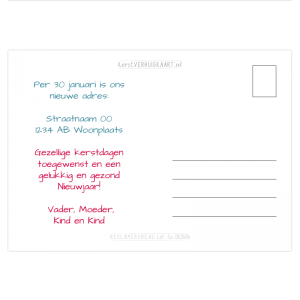 verhuis kerstkaart kever bug eigen tekst kleur proef pdf