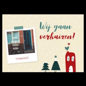 kerst verhuiskaart foto woning huis samenwonen