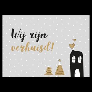 Verhuis kerstkaart single vrijgezel tekst voorbeeld alleenstaand