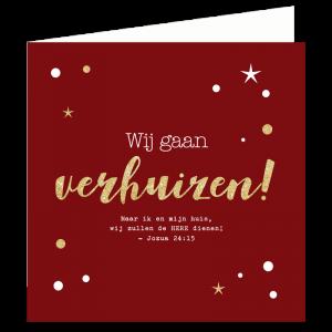 Kerst verhuiskaart bijbel tekst gelovig christelijk Jezus Heere