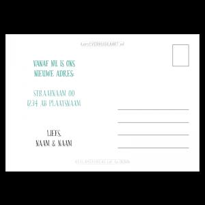 Verhuisbericht nieuwjaarswens handlettering jade mint early dew tekst