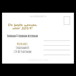 tekst verhuis nieuwjaarskaart handettering bericht combinatie