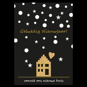 gelukkig nieuwjaar + verhuiskaart