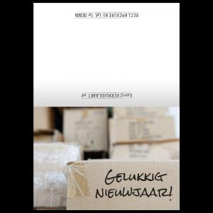 nieuwjaars verhuiskaart dozen inpakken toekomst aankondiging