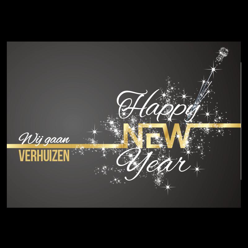 happy new year champagne popping sterren vuurwerk feest kurk verhuizen nieuw jaar