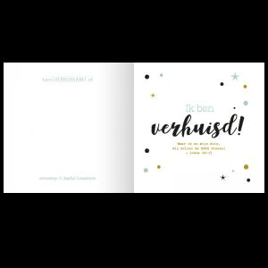 verhuiskaart kerst bijbel tekst christelijk gelovig typografisch